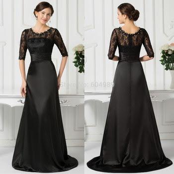Black classic evening dress