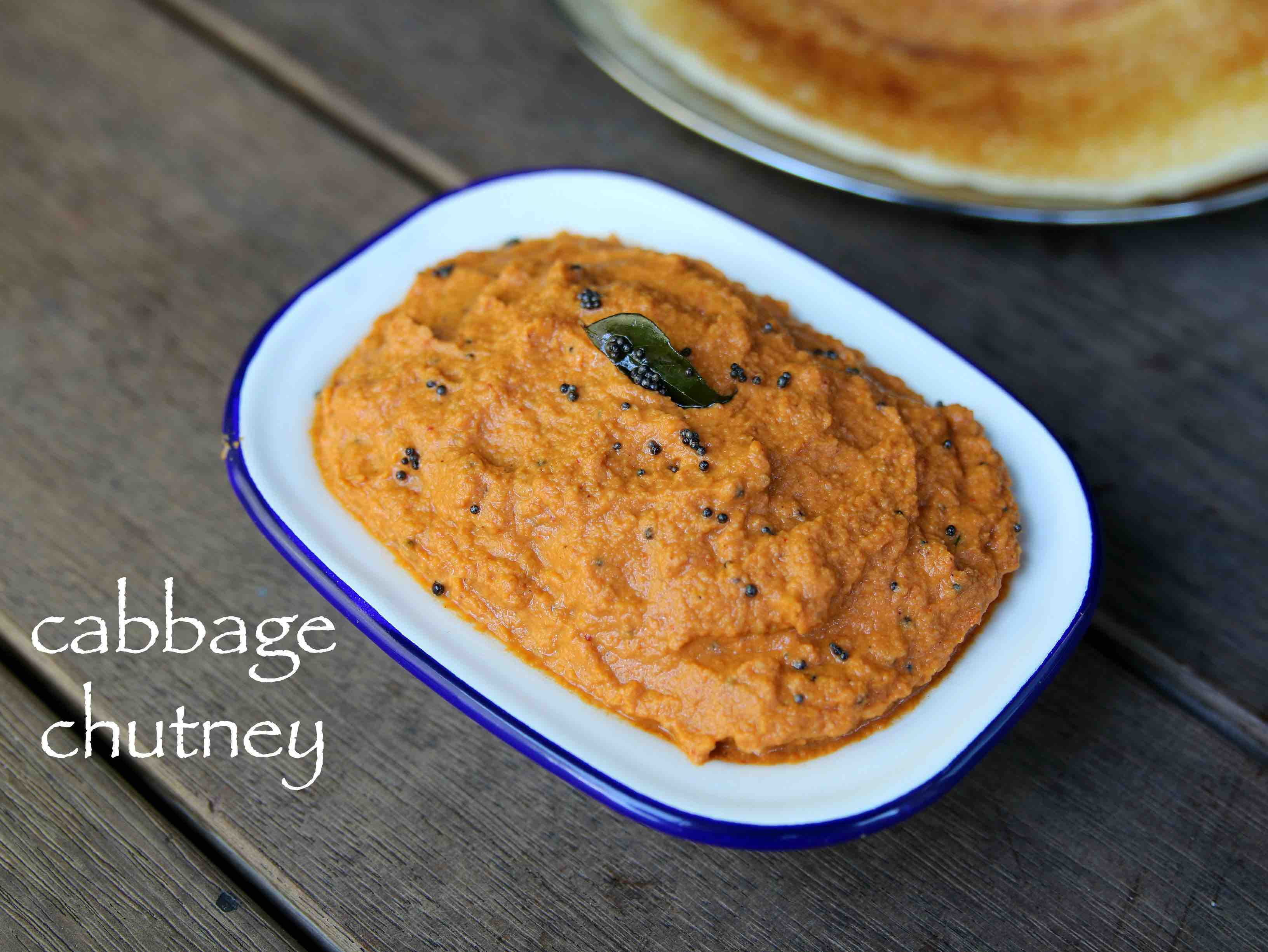 cabbage chutney recipe | cabbage pachadi recipe ...