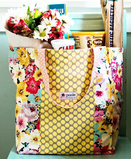 Jane Market Bag Sewing Pattern - Grocery Bag Idea