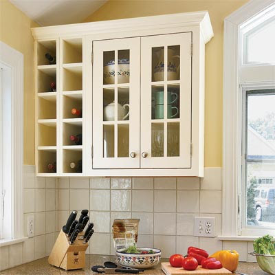Custom Touches: Wine Storage   All About Kitchen Cabinets   This ...