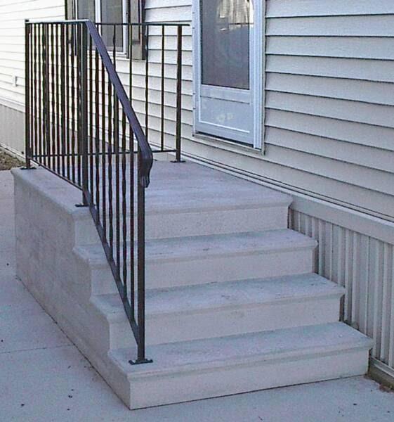 Home Depot Exterior Paint Prices: Small Home Exterior Design: Prefabricated Porch Steps