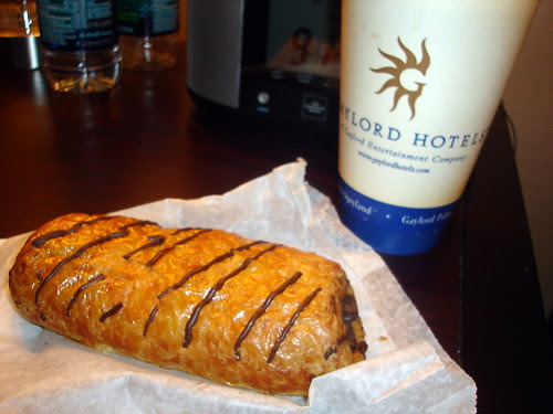 Pumpkin Spice Latte & Chocolate Croissant
