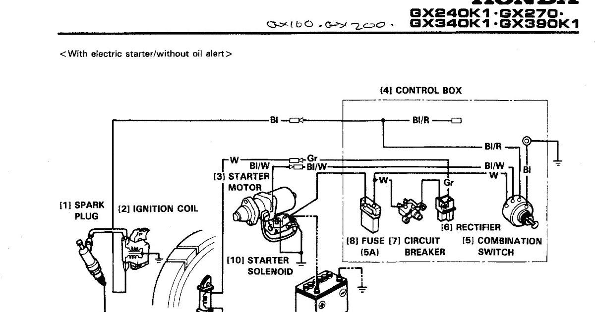 Wiring Diagram For Honda Gx160