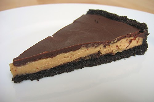 chocolate pb tart slice