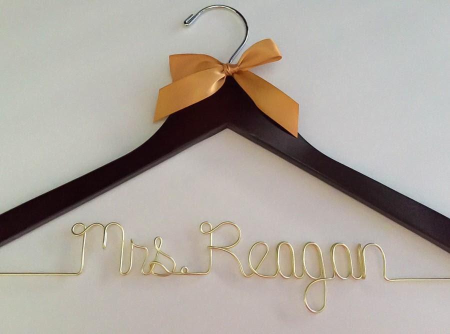 Gold Wire Golden Hanger Ships In 1 3 Days Wedding Hanger Wedding