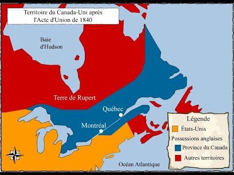HQC4 - La formation du régime fédéral canadien - 1 - L'Acte d'Union
