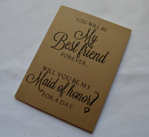 You Will Be My Best Friend Forever Bridesmaid Card Bridesmaid Card