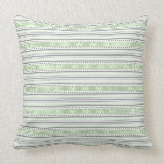 Amara Fret Stripe pistachio Throw Cushion throwpillow