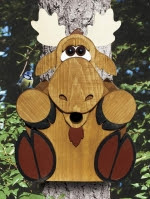 Moose Birdhouse Woodworking Plan - fee plans from WoodworkersWorkshop® Online Store - moose,wildlife,animals,birdhouses,full sized patterns,woodworking plans,woodworkers projects,blueprints,drawings,blueprints,how-to-build,MeiselWoodHobby