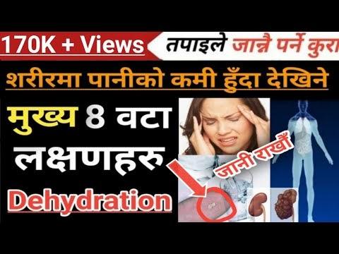 शरीरमा पानीको कमी हुँदा देखिने 8 वटा मुख्य लक्षणहरु Dehydration Symptoms in Nepali