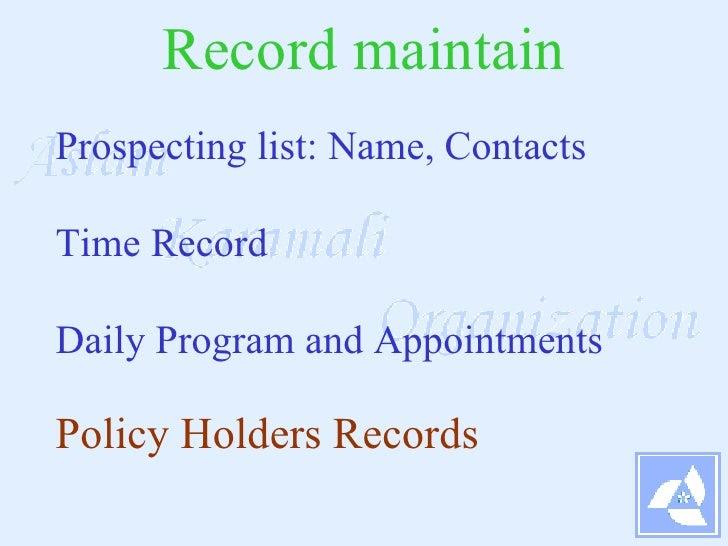 AK O SRs Life Insurance Agent career in PK