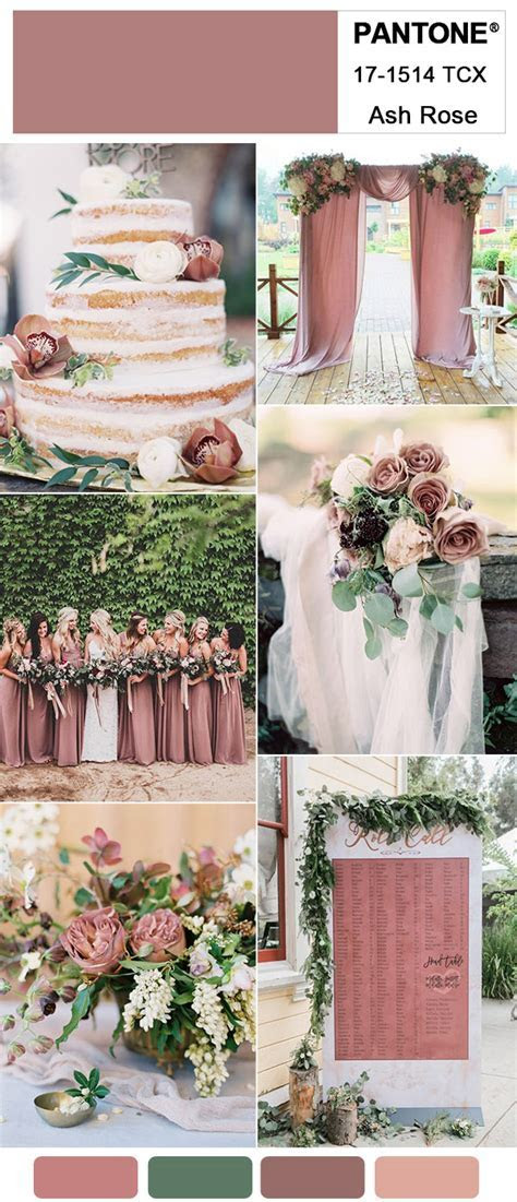 Gorgeous Ash Rose Wedding Colors for 2018 Trends Inspired