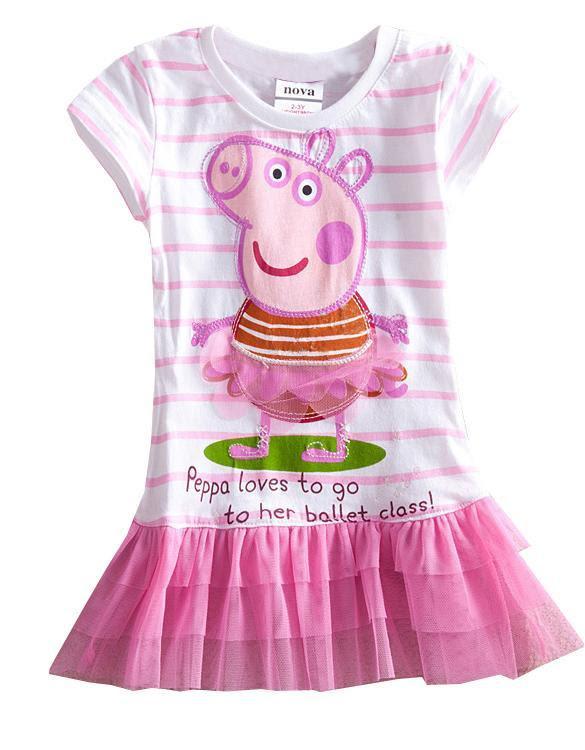 new baby toddler girls pink peppa pig party tutu dress top