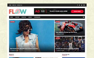Flow Magazine Blogger Template