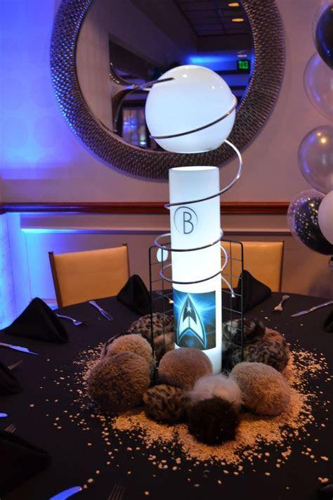 Table decorations   30th Birthday Star Trek Party