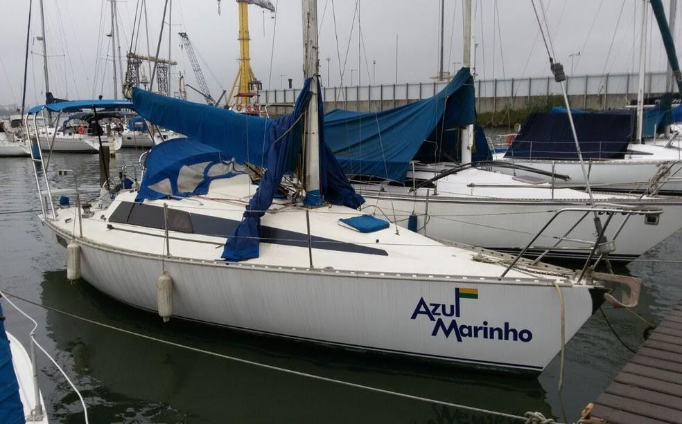 Valeiro 'Azul Marinho' foi alvo de criminosos no acesso ao Porto de Santos, SP (Foto: Arquivo Pessoal)