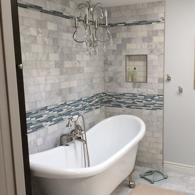 Refresh Your Bathroom by Replacing Drab Shower Tile