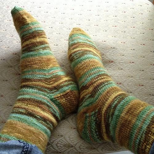 Opal Vincent Van Gogh socks finished! Pair 3/13