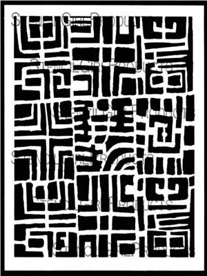 Ancient Marks Stencil by Suzi Dennis