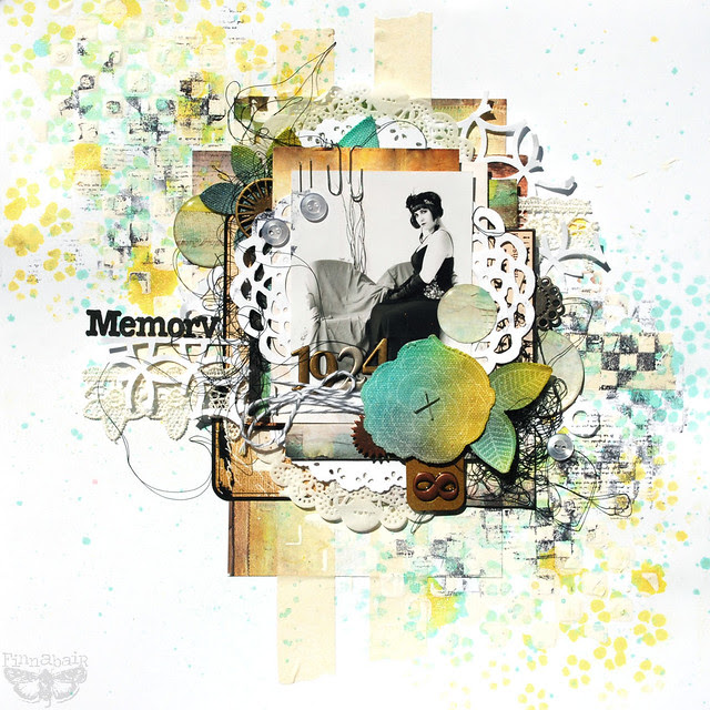 Memory - 7 DS, Sizzix and Prima