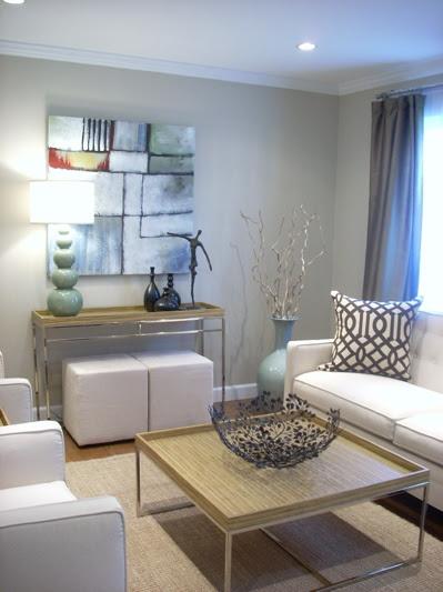 Grant Beige - Contemporary - living room - Benjamin Moore ...
