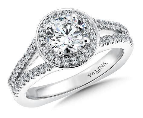 Shira Diamonds : Round Cut Halo Diamond Ring : Engagement