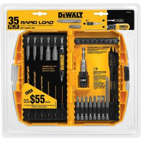 DEWALT 35-Piece Magnetic Compact Rapid Load Drill Bit Set