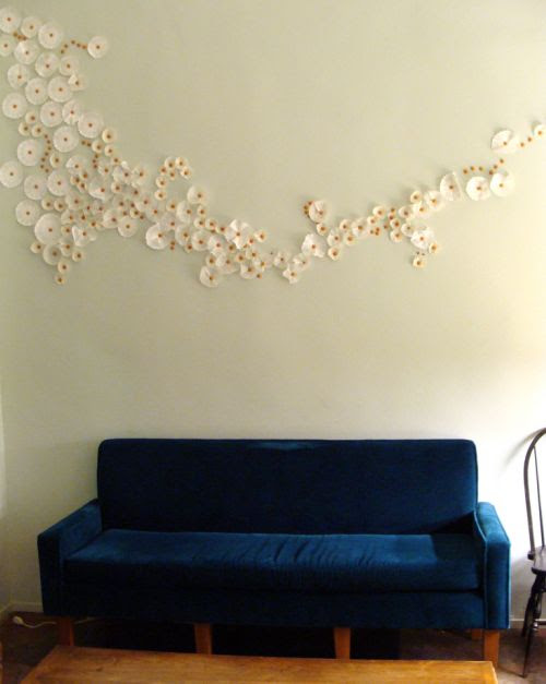 the haystack needle: paper wall art