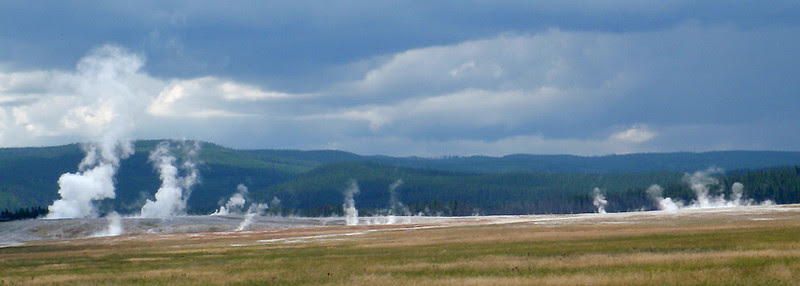Yellowstone geysers at Midway Geyser Basin, I think.