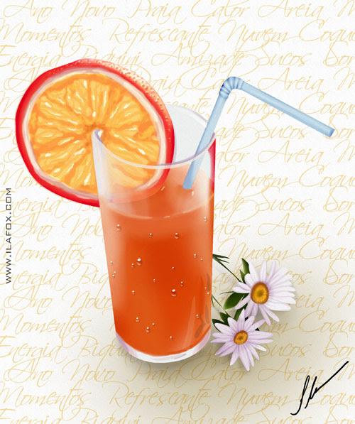 suco refrescante para o verão