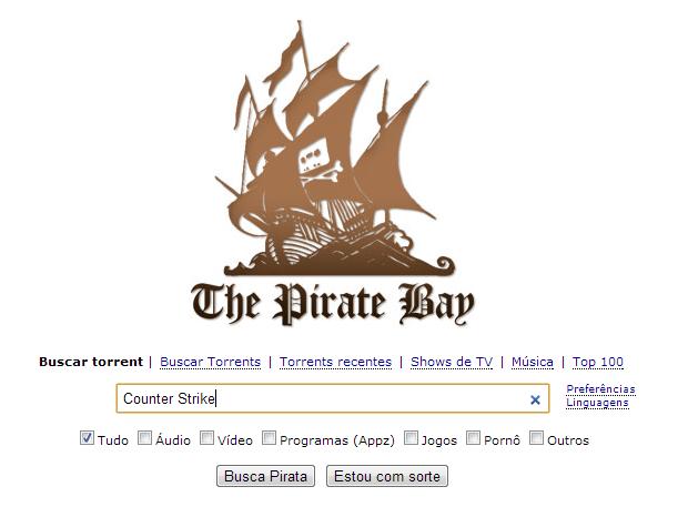 TPB é um dos mais populares sites de torrent (Foto: Reprodução/Thiago Barros)