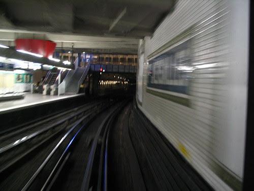 Driver's eye view Métro