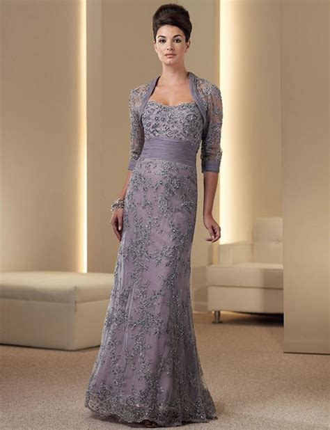 Mother of the Bride Lace Dresses with Jacket Pant Suit