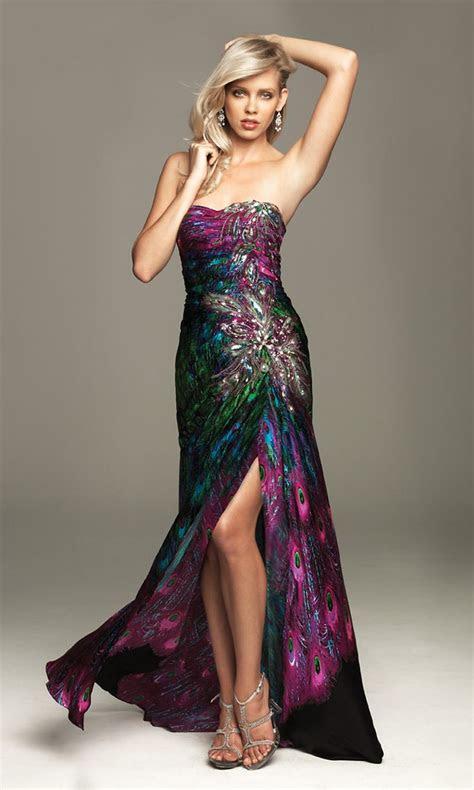 bridesmaid dresses   theme  peacock