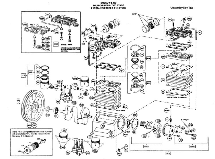 quincy 325 parts diagram