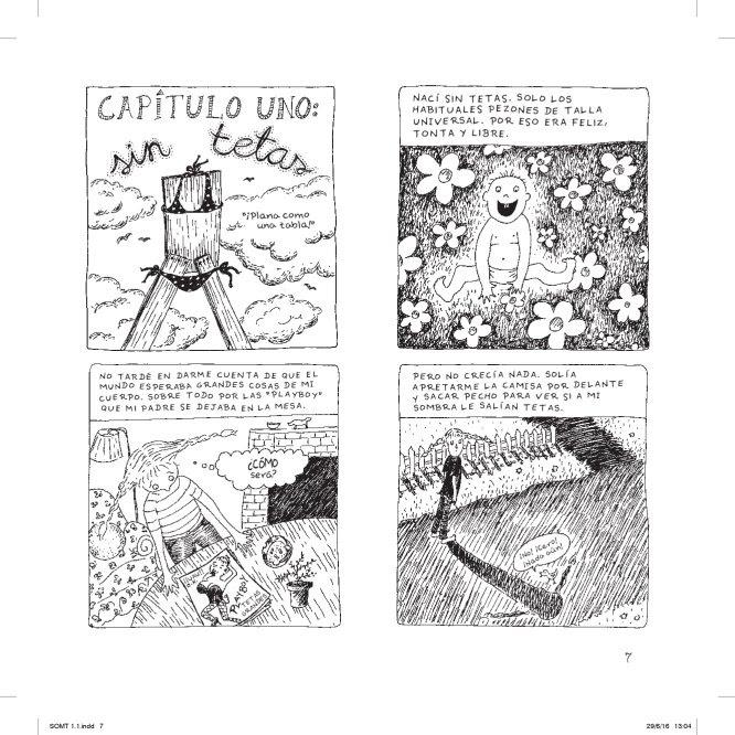 Primeras viñetas de 'La historia de mis tetas', novela gráfica de Jennifer Hayden.