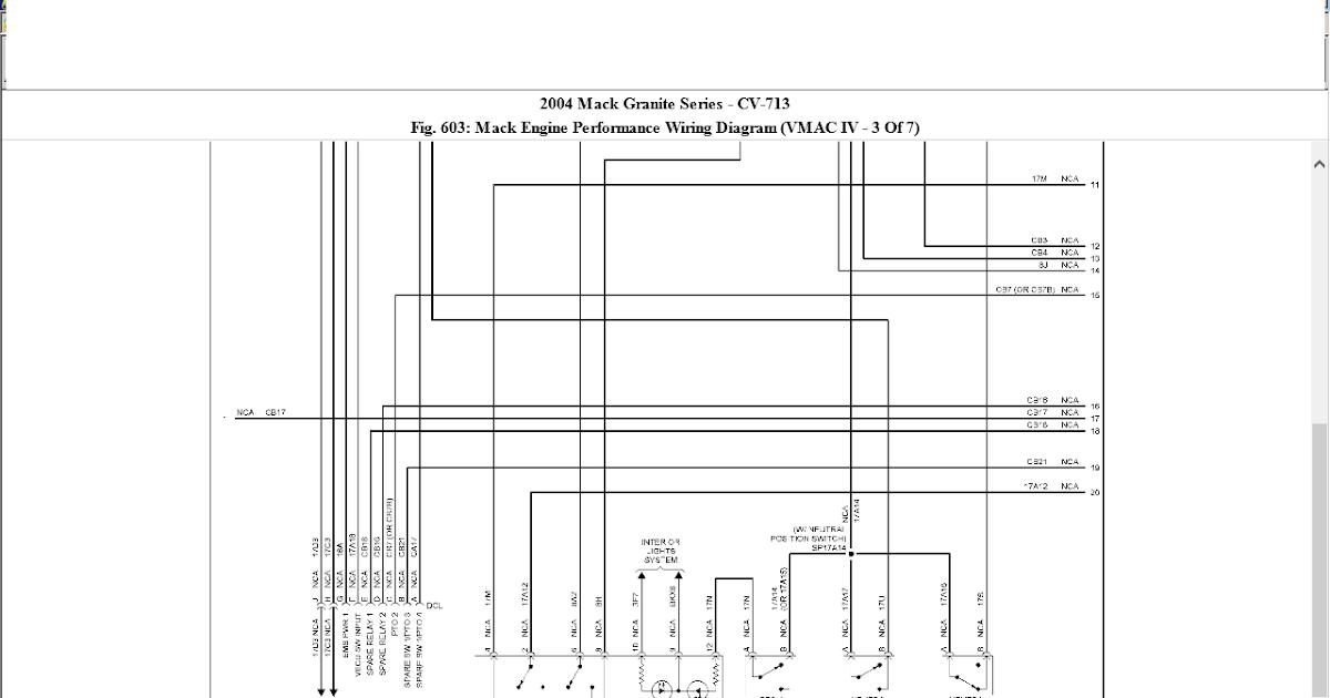 Wiring Diagram For Mack Trucks