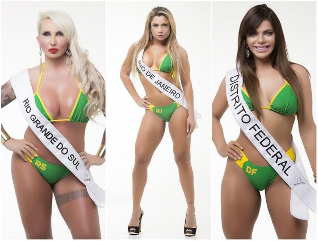 Candidatas do Miss Bumbum 2015 (Foto: Divulgação MBB5!)