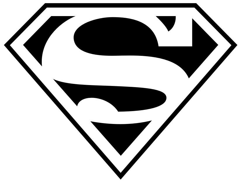 logo superman kleurplaat