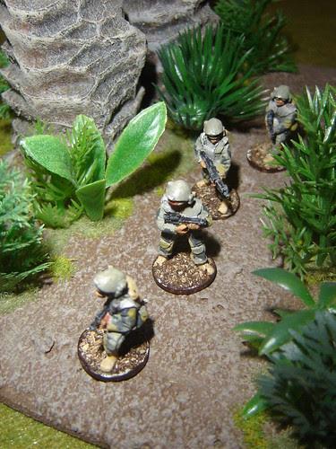 1st Fire Team - Sakhan Heavy Infantry