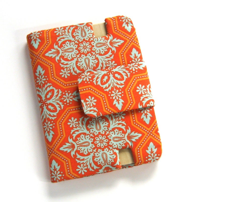 Kindle Fire HD 7 Orange & Turquoise Cover Stand Ready to Ship - StudioCherie