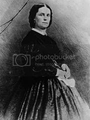photograph of Peggy Eaton who caused the Petticoat Affair during President Andrew Jackson's first administration