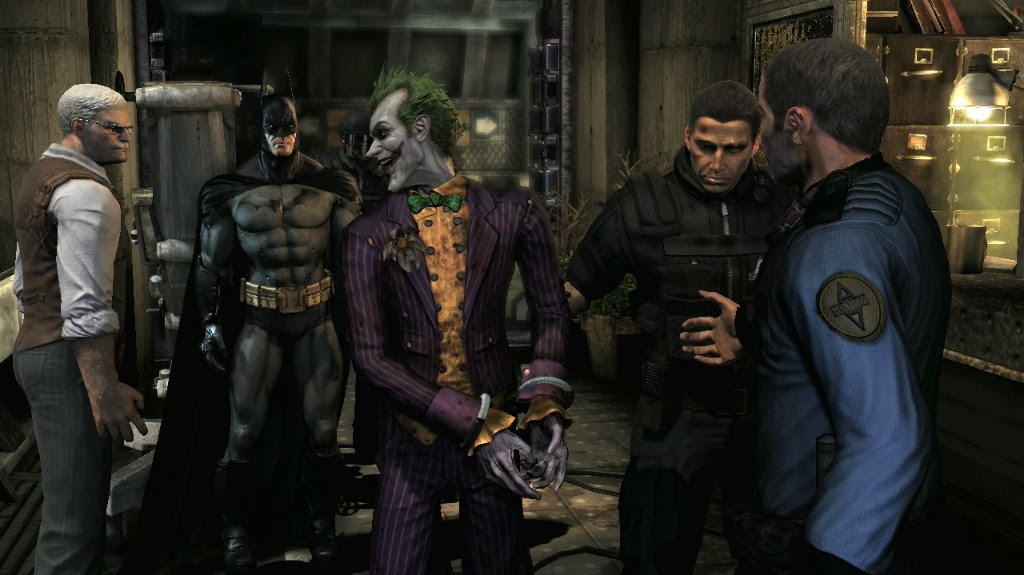 Batman Arkham Asylum features.