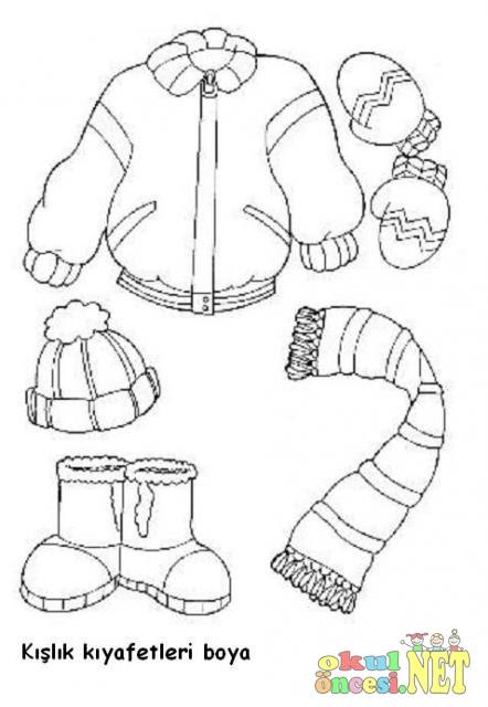 Kışlık Kıyafetleri Gruplandırma çalışması