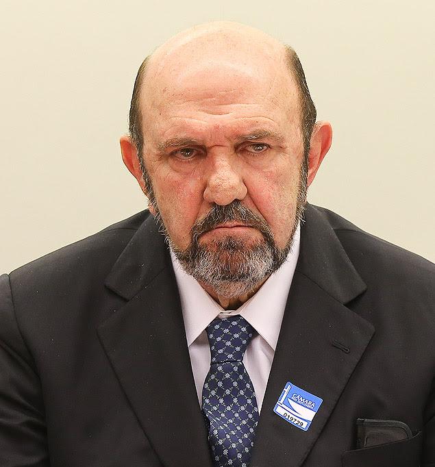 O dono da empreiteira UTC, Ricardo Pessoa, durante depoimento à CPI da Petrobras