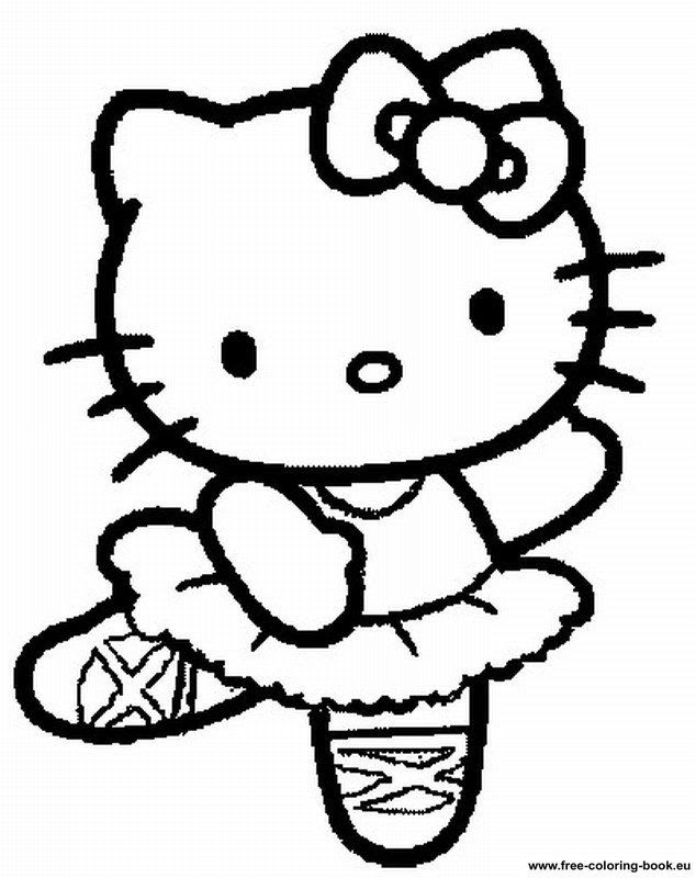 Free Printable Hello Kitty Coloring Pages Coloring Pages