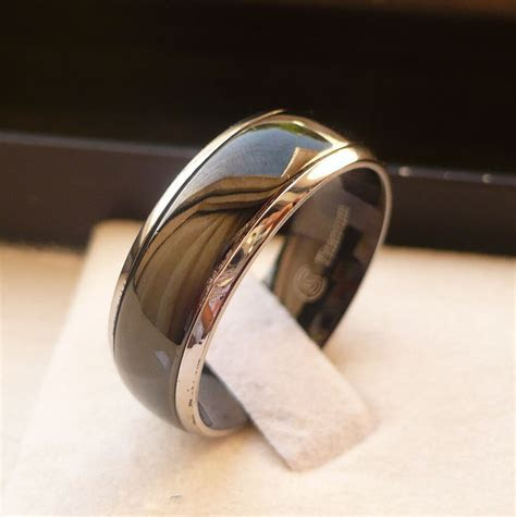 8MM MEN'S TITANIUM COMFORT FIT WEDDING ENGAGEMENT PROMISE