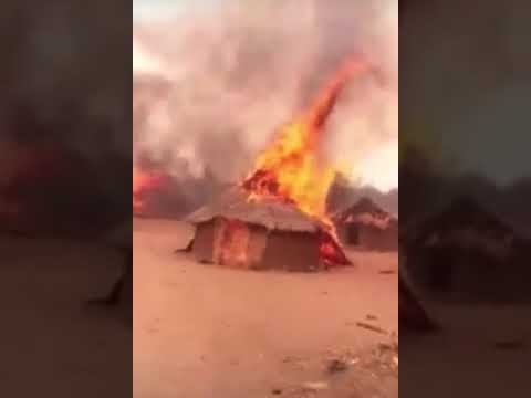 Breaking News!!! Fulani set Saki Oyo State on Fire