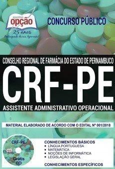 Apostila concurso CRF-PE - ASSISTENTE ADMINISTRATIVO OPERACIONAL