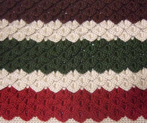 Ruby & Emerald Crocodile Stitch Blanket